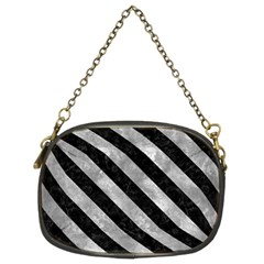 Stripes3 Black Marble & Gray Metal 2 (r) Chain Purses (two Sides)  by trendistuff