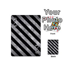 Stripes3 Black Marble & Gray Metal 2 (r) Playing Cards 54 (mini)  by trendistuff