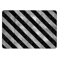 Stripes3 Black Marble & Gray Metal 2 (r) Samsung Galaxy Tab 8 9  P7300 Flip Case by trendistuff