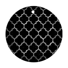 Tile1 Black Marble & Gray Metal 2 Ornament (round) by trendistuff