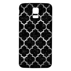 Tile1 Black Marble & Gray Metal 2 Samsung Galaxy S5 Back Case (white) by trendistuff