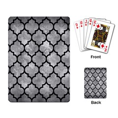 Tile1 Black Marble & Gray Metal 2 (r) Playing Card by trendistuff