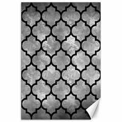 Tile1 Black Marble & Gray Metal 2 (r) Canvas 20  X 30   by trendistuff