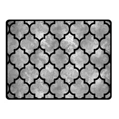 Tile1 Black Marble & Gray Metal 2 (r) Fleece Blanket (small) by trendistuff