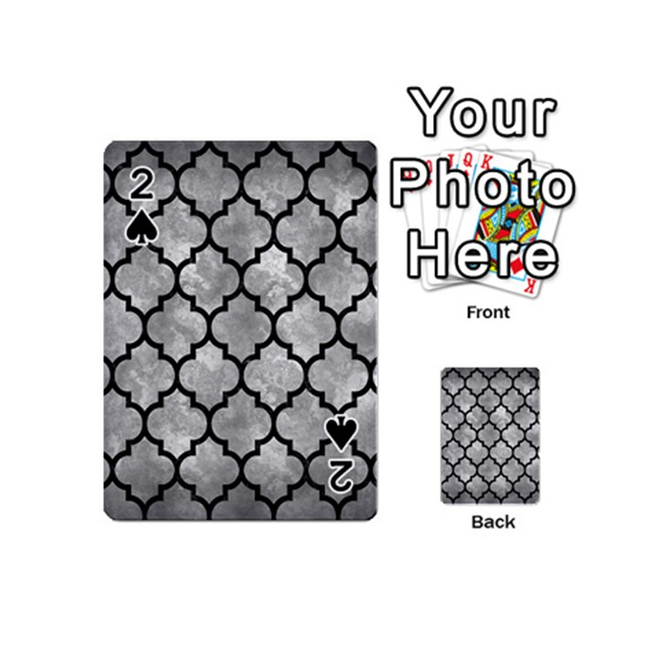 TILE1 BLACK MARBLE & GRAY METAL 2 (R) Playing Cards 54 (Mini)