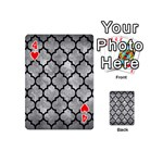 TILE1 BLACK MARBLE & GRAY METAL 2 (R) Playing Cards 54 (Mini)  Front - Heart4