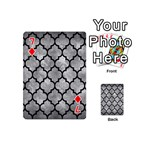 TILE1 BLACK MARBLE & GRAY METAL 2 (R) Playing Cards 54 (Mini)  Front - Diamond7