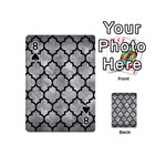 TILE1 BLACK MARBLE & GRAY METAL 2 (R) Playing Cards 54 (Mini)  Front - Spade8