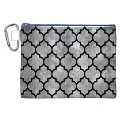 Tile1 Black Marble & Gray Metal 2 (r) Canvas Cosmetic Bag (xxl)