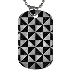 Triangle1 Black Marble & Gray Metal 2 Dog Tag (one Side) by trendistuff