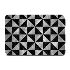 Triangle1 Black Marble & Gray Metal 2 Plate Mats by trendistuff