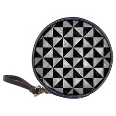 Triangle1 Black Marble & Gray Metal 2 Classic 20 Cd Wallets by trendistuff