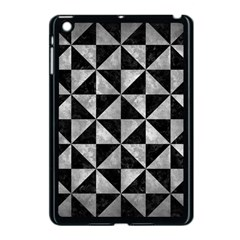 Triangle1 Black Marble & Gray Metal 2 Apple Ipad Mini Case (black) by trendistuff