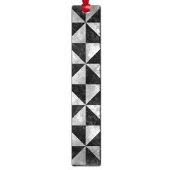 Triangle1 Black Marble & Gray Metal 2 Large Book Marks by trendistuff