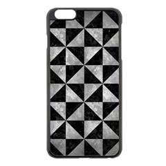 Triangle1 Black Marble & Gray Metal 2 Apple Iphone 6 Plus/6s Plus Black Enamel Case by trendistuff