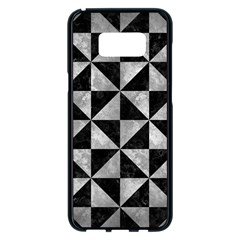 Triangle1 Black Marble & Gray Metal 2 Samsung Galaxy S8 Plus Black Seamless Case by trendistuff