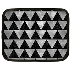 Triangle2 Black Marble & Gray Metal 2 Netbook Case (large) by trendistuff