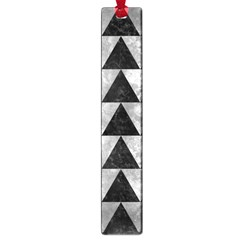 Triangle2 Black Marble & Gray Metal 2 Large Book Marks by trendistuff