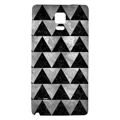 Triangle2 Black Marble & Gray Metal 2 Galaxy Note 4 Back Case by trendistuff