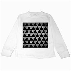 Triangle3 Black Marble & Gray Metal 2 Kids Long Sleeve T Shirts by trendistuff