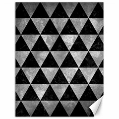Triangle3 Black Marble & Gray Metal 2 Canvas 12  X 16   by trendistuff