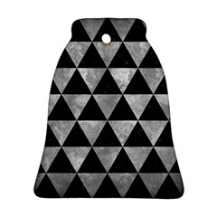 Triangle3 Black Marble & Gray Metal 2 Ornament (bell) by trendistuff