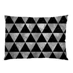 Triangle3 Black Marble & Gray Metal 2 Pillow Case (two Sides) by trendistuff