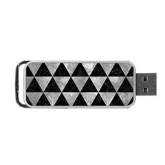 Triangle3 Black Marble & Gray Metal 2 Portable Usb Flash (one Side) by trendistuff