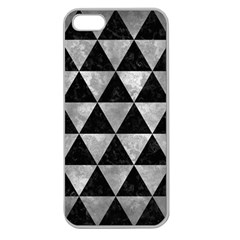 Triangle3 Black Marble & Gray Metal 2 Apple Seamless Iphone 5 Case (clear)