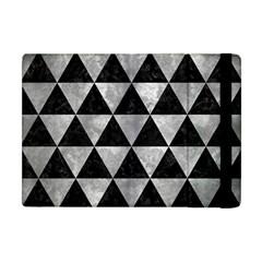 Triangle3 Black Marble & Gray Metal 2 Apple Ipad Mini Flip Case by trendistuff