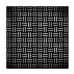 Woven1 Black Marble & Gray Metal 2 Face Towel by trendistuff