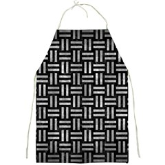 Woven1 Black Marble & Gray Metal 2 Full Print Aprons by trendistuff
