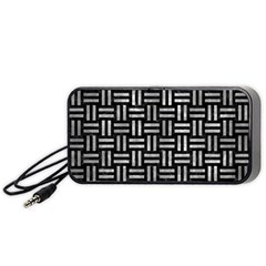 Woven1 Black Marble & Gray Metal 2 Portable Speaker by trendistuff