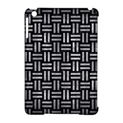 Woven1 Black Marble & Gray Metal 2 Apple Ipad Mini Hardshell Case (compatible With Smart Cover) by trendistuff