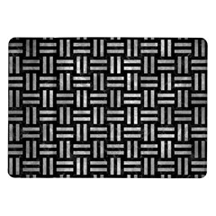 Woven1 Black Marble & Gray Metal 2 Samsung Galaxy Tab 10 1  P7500 Flip Case by trendistuff