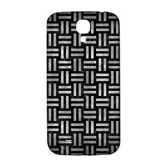 Woven1 Black Marble & Gray Metal 2 Samsung Galaxy S4 I9500/i9505  Hardshell Back Case