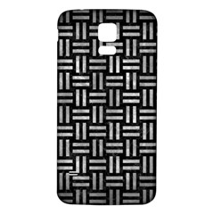 Woven1 Black Marble & Gray Metal 2 Samsung Galaxy S5 Back Case (white) by trendistuff