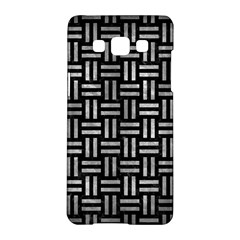 Woven1 Black Marble & Gray Metal 2 Samsung Galaxy A5 Hardshell Case  by trendistuff