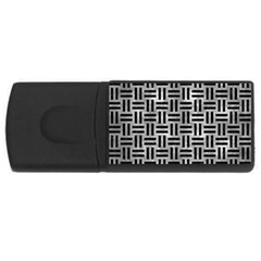 Woven1 Black Marble & Gray Metal 2 (r) Rectangular Usb Flash Drive by trendistuff