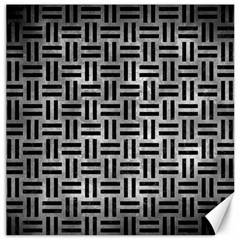 Woven1 Black Marble & Gray Metal 2 (r) Canvas 12  X 12   by trendistuff