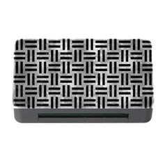Woven1 Black Marble & Gray Metal 2 (r) Memory Card Reader With Cf by trendistuff
