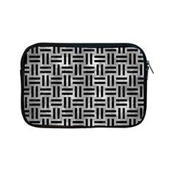 Woven1 Black Marble & Gray Metal 2 (r) Apple Ipad Mini Zipper Cases by trendistuff