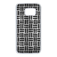 Woven1 Black Marble & Gray Metal 2 (r) Samsung Galaxy S7 White Seamless Case by trendistuff