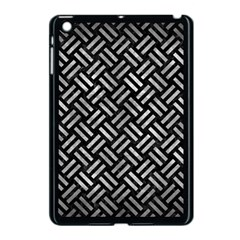 Woven2 Black Marble & Gray Metal 2 Apple Ipad Mini Case (black) by trendistuff