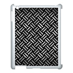 Woven2 Black Marble & Gray Metal 2 Apple Ipad 3/4 Case (white) by trendistuff