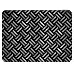 Woven2 Black Marble & Gray Metal 2 Samsung Galaxy Tab 7  P1000 Flip Case by trendistuff