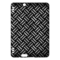 Woven2 Black Marble & Gray Metal 2 Kindle Fire Hdx Hardshell Case by trendistuff