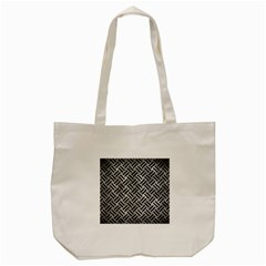 Woven2 Black Marble & Gray Metal 2 (r) Tote Bag (cream) by trendistuff