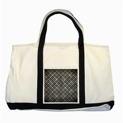 Woven2 Black Marble & Gray Metal 2 (r) Two Tone Tote Bag by trendistuff