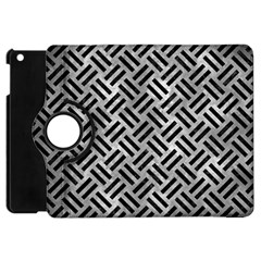 Woven2 Black Marble & Gray Metal 2 (r) Apple Ipad Mini Flip 360 Case by trendistuff